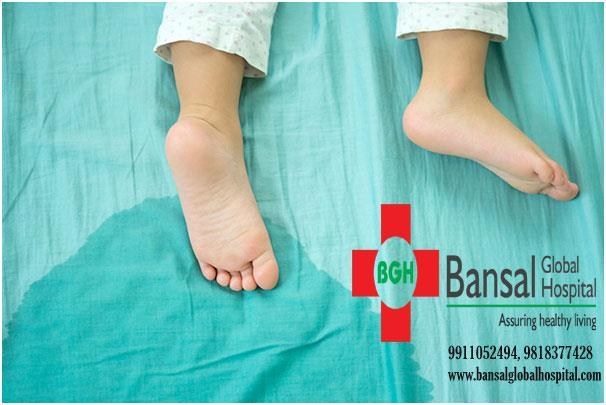 5 steps to tackle bed wetting problem in children  Nocturnal enuresis or bed wetting can be very irritating and at the same time concerning for parents. It could be due to many reasons such as late maturation of bladder, cold temperature, anxiety, and other idiopathic causes.  Bansal Global Hospital Read More : https://bansalglobalhospital.com/tackle-bed-wetting-problem-in-children/