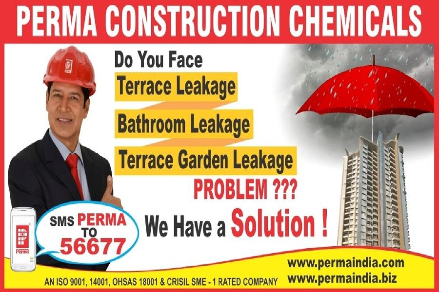 We have Terrace Waterproofing Material & Terrace Waterproofing Chemicals for Terrace Water Proofing Solutions . Perma Terrace Water Proofing Coat & Terrace Waterproofing Coating s solved your Terrace Leakage Problem . If you required the full information about Waterproof Elastomeric Coating are available on our website www.permaindia.biz & www.permaindia.com