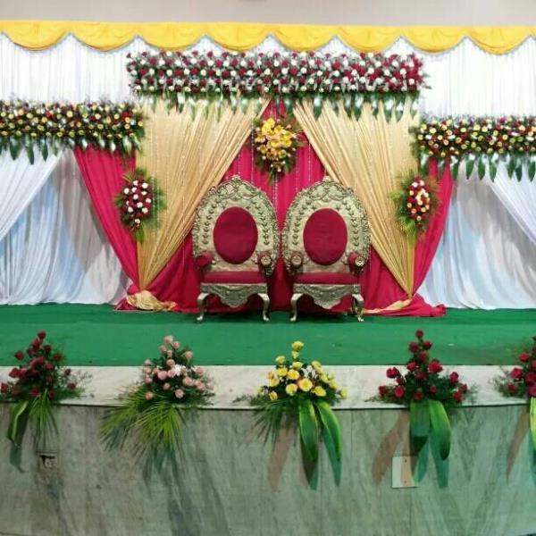 Best Bangalore Stage Decorations Flower Drapes With Photos Prices For Wedding Reception