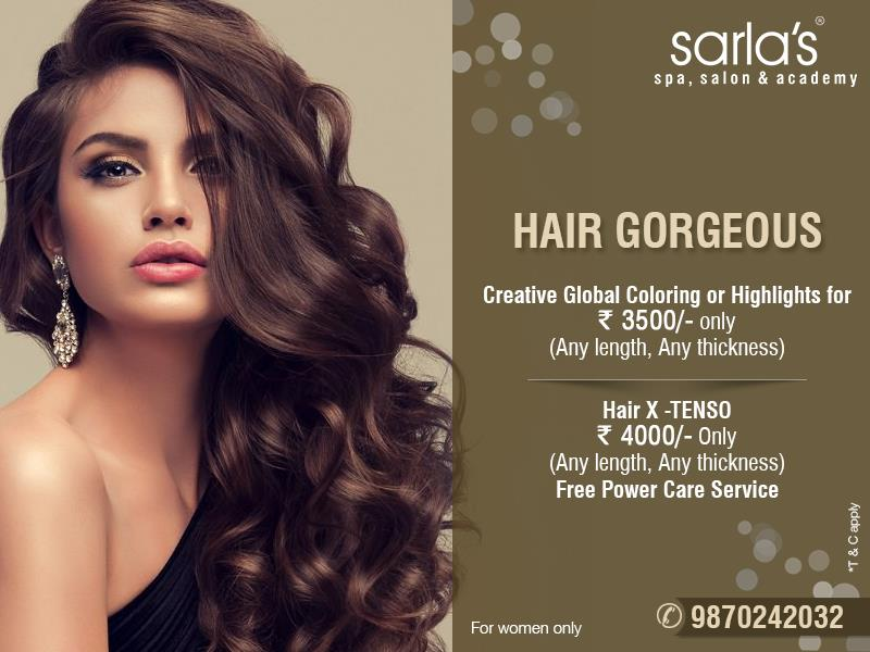 Look gorgeous with #Haircare packages by Sarla's Spa Salon & Academy  For more details call on - 98702 42032 #wintercare #winterpamper