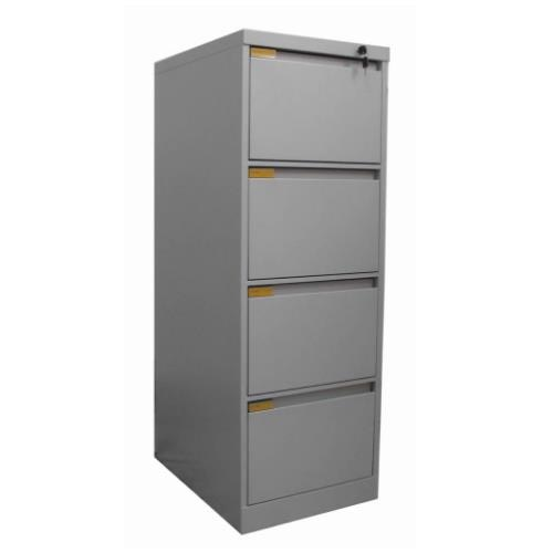 Four Drawer Filing Cabinets   :   We are providing our clients with an impeccable range of Four Drawer Filing Cabinets. We manufacture the offered filing cabinets using premium quality raw material under the supervision of experts keeping in mind the globally laid quality norms. Moreover, we provide these filing cabinets to patrons in different dimensions and also on the basis of their given details.  Attributes:  Smooth finishing and shining Structural firmness Resistance against corrosion Sturdy construction Features:  Corrosion resistance High tensile strength Longevity  For Inquiries Outside Maharashtra: Minimum Order Quantity: 20