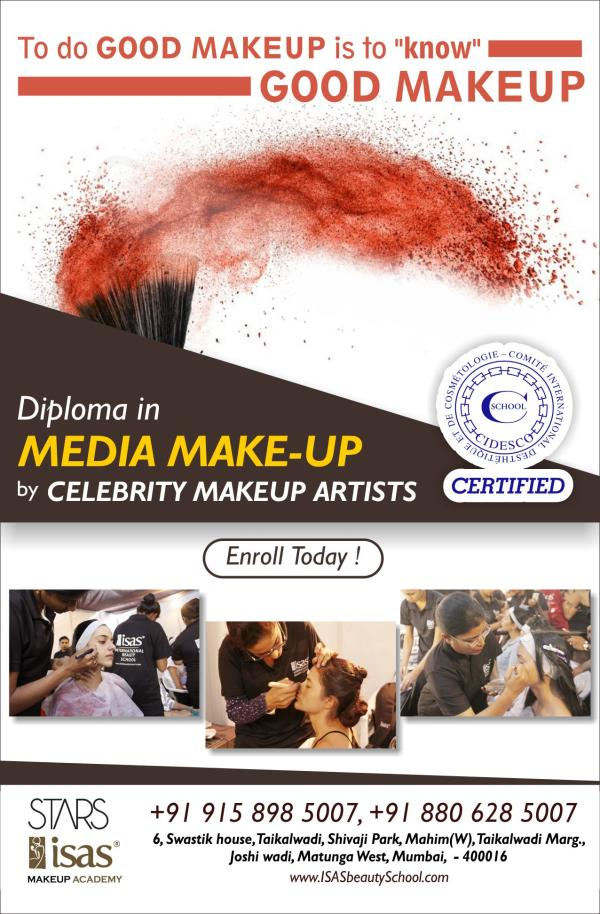 Learn CIDESCO Certified Diploma in Media Makeup Course  by CELEBRITY MAKEUP ARTIST  Enroll Today !  Only @ STARS-ISAS Makeup Academy, Mumbai  Certificate & Diploma Courses: #Creative_Hair_Designing #Advanced_Beauty_& _ #SpaTherapy #Personal_Grooming #Professional_Makeup #NailExtension_& #Nail_Art #Diet_& #_Nutrition  1st Floor, Zodiac Plaza, Near Nabard Flat, H.L. Comm. College  Road, Navrangpura Ahmedabad - 9  Ph. +91 99098 40007, +91 8469255255, 079-26300007  www.isasbeautyschool.com  #Prosthetic_Makeup_in_Ahmedabad #3d_Makeup_in_Ahmedabad #Advanced_Make_Up_Courses_in_Ahmedabad #Bridal_Make_Up_Course_in_Ahmedabad #Courses_In_Make_Up_in_Ahmedabad #Hair_& _#Make_Up_Courses_In_India_in_Ahmedabad, #Makeup_Courses_in_India  #International_Beauty_School_in_Ahmedabad #Make_Up_Classes_in_Ahmedabad, #Makeup_Courses_in_Ahmedabad #Makeup_Artist_Courses_in_Ahmedabad #Makeup_Artistry_Courses_in_Ahmedabad #Makeup_Course_in_Ahmedabad #Hair_Dressing_Courses_in_Ahmedabad #Courses_in_Hair_in_Ahmedabad #Hair_Courses_in_India_in_Ahmedabad #Hair_Courses_in_India #Hair_Courses_in_Ahmedabad #Hair_Cutting_Classes_in_Ahmedabad #Hair_Classes_in_Ahmedabad #Hair_Courses_in_Ahmedabad #Part_Time_Make_Up_Courses_in_Ahmedabad #Personal_Make_Up_Courses_in_Ahmedabad #Professional_MakeUp_Course_in_Ahmedabad #Indian_Head_Massage_in_Ahmedabad #Foot_Reflexology_in_Ahmedabad #Ayurvedic_Massages_in_Ahmedabad #Aroma_Therapy_Courses_in_Ahmedabad #Cidesco_Courses_in_Ahmedabad #Cidesco_Qualifications_in_Ahmedabad #Cidesco_Course_in_Ahmedabad #Best_Cidesco_School_in_Ahmedabad #Cidesco_Center_in_Ahmedabad #Vtct_Center_in_Ahmedabad #Vtct_School #Vtct_Course_in_Ahmedabad #Spa_Courses_in_Ahmedabad #The_Academy_Of_Make_Up_and_Beauty_in_Ahmedabad #he_Beauty_Academy_in_Ahmedabad #Salon_Management_Course_in_Ahmedabad #Spa_Management_Course_in_Ahmedabad #Cidesco_Beauty_Therapy_Course_in_Ahmedabad #Salon_Spa_Management_Course_in_Ahmedabad #Personality_Development_Course_in_Ahmedabad #Personal_Grooming_Courses_in_Ahmedabad #International_Beauty_Certifications_in_Ahmedabad #International_Beauty_School_in_Ahmedabad #Beauty_Qualifications_in_Ahmedabad #City_and_Guilds_Courses_in_Ahmedabad #City_And_Guilds_Qualifications_in_Ahmedabad, #IVQ_Certification_in_Ahmedabad, #Cosmetology_Courses_Online_in_Ahmedabad #Spa_Beauty_in_Ahmedabad #Spa_Course_in_Ahmedabad #The_Academy_Of_Make_Up_and_Beauty_in_Ahmedabad #The_Beauty_Academy_in_Ahmedabad Apprenticeships_in_Beauty_in_Ahmedabad #Beautician_Classes_in_Ahmedabad #Beautician_Courses_in_Ahmedabad #Beauty_Academics_in_Ahmedabad #Beauty_Academy_in_Ahmedabad #Beauty_and_Cosmetology_in_Ahmedabad #Beauty_Apprenticeships_in_Ahmedabad #Beauty_Certificate_in_Ahmedabad #Beauty_Classes_in_Ahmedabad #Beauty_Cosmetology_in_Ahmedabad #Beauty_Course_in_Ahmedabad #Beauty_Institute_in_Ahmedabad #Beauty_Parlour_Classes_in_Ahmedabad #Beauty_Parlour_Training_in_Ahmedabad #Beauty_Parlour_Classes_in_Ahmedabad #Beauty_Salon_Classes_in_Ahmedabad #Beauty_Therapist_Jobs_in_Ahmedabad #Beauty_Therapist_Qualification_in_Ahmedabad #Beauty_Therapy_College_in_Ahmedabad #Beauty_Therapy_Training_in_Ahmedabad #Beauty_Training_Centre_in_Ahmedabad #Beauty_Treatments_in_Ahmedabad #Beauty_Website_in_Ahmedabad #Certificate_In_Beauty_in_Ahmedabad #College_Beauty_in_Ahmedabad #Cosmetology_Courses_in_Ahmedabad #Courses_for_Cosmetology_in_Ahmedabad #Courses_in_Cosmetology_in_Ahmedabad #Training_Courses_in_Ahmedabad #Mehendi_Course_in_Ahmedabad Nail_Extension_Courses_in_Ahmedabad #Nail_Art_Courses_in_Ahmedabad #Nail_Gel_Extensions_in_Ahmedabad #Creative_Nail_Courses_in_Ahmedabad #Nail_Art_in_India_Beauty_school #beauty_institute #makeup_school #makeup_institute #Hair_Dressing_school #Hair_designing #nail_technician_institute #nail_extension_school #spa_institute #spa_training_school