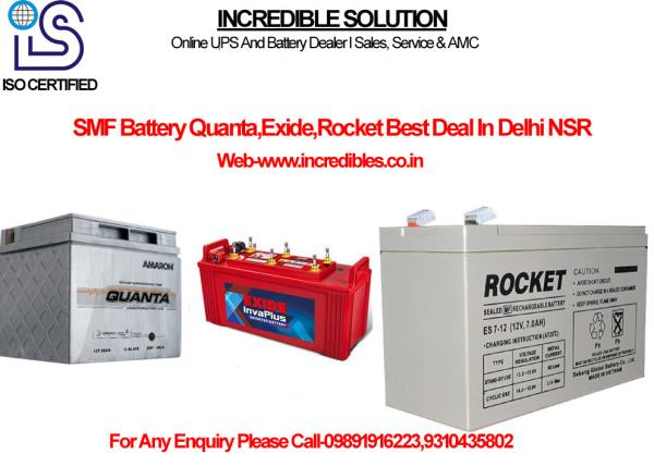 Our company has set benchmark in offering Exide UPS Batteries to the clients. These products are thoroughly checked on various parameters by procurement team. Exide UPS Batteries are ideal for emergency power back up application at home, offices, business centers and shops. Offered range can also be customized as per client specification to meet their expectations. These products are designed using topmost grade material and latest technology in tandem with set industrial norms at vendors end.   Features:   • Compact design  • Robust construction  • High power back up  • Battery Type Acid Lead Battery DC/AC Inverters Dry Charged Battery Nickel Cadmium Tubular  • Brand Exide Amaron .