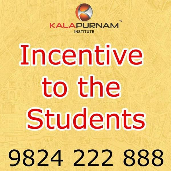 All running active & old passout students will get incentives by referring enquiries converting to course enrollment.  KALAPURNAM INSTITUTE Call  9824222888 /  9824801838.