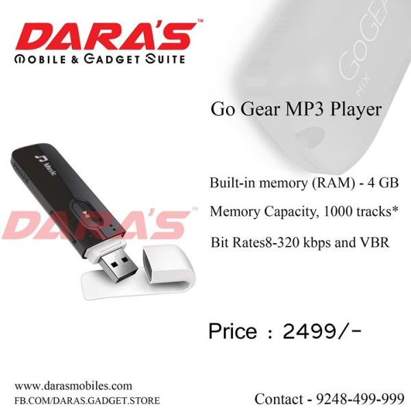 #Go_Gear   #Mp3_Player #Built-in Ram_4Gb Now Available at DARAS