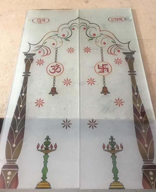 New design for mandir door & New design for mandir door : Sheetal Glass Centre