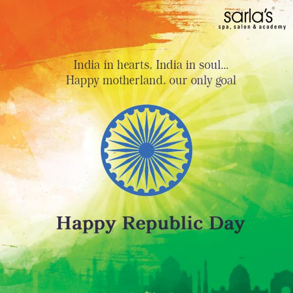 Happy Republic Day - by Sarla's Spa & Salon, Thane
