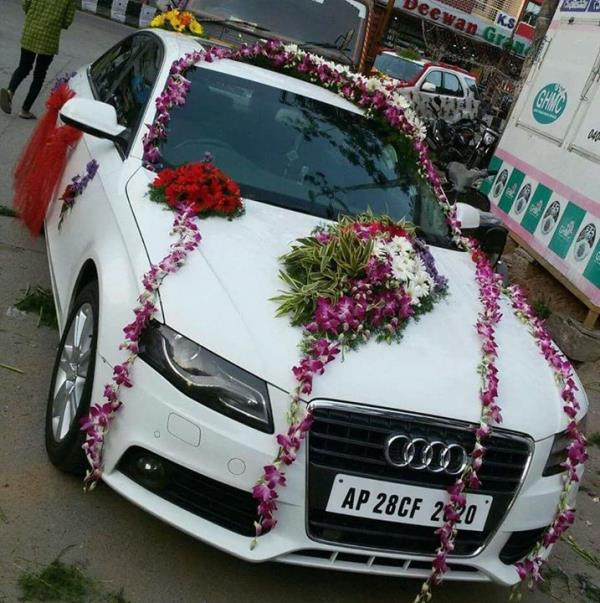 Car For Rent With Decoration Audi Car For Wedding With Decoration - Audi car decoration