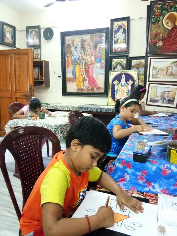 kids and adultsArt classes for kids and adultsOil painting classes for kids and adultsPainting material salesTanjore painting stones salesTanjore painting material salesArt material sales