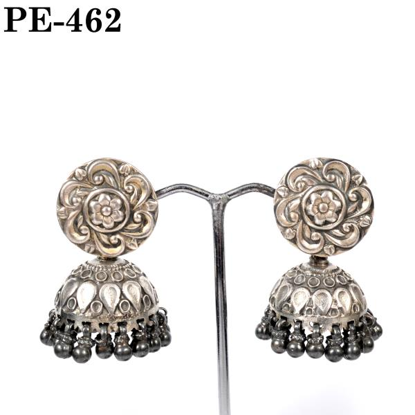 If you are ready to unleash the brilliance of Sterling Silver Jewellery look no further than these incredibly glittering Jhumka Designs Small  Earrings. Save them for your next special evening for more Jewelry like this visit our Jewelry Store in Jaipur.
