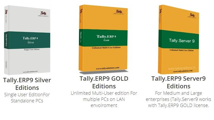 TALLY ERP 9   Tally.ERP 9 is your perfect business management solution and GST software. With an ideal combination of function, control and customisability built in, Tally.ERP 9 permits business owners and their associates to do more.   It is a complete product that retains its original simplicity yet offers comprehensive business functionalities such as Accounting, Finance, Inventory, Sales, Purchase, Point of Sales, Manufacturing, Costing, Job Costing, Payroll and Branch Management along with compliance capabilities for VAT, Excise, TDS, TCS, and now GST too!