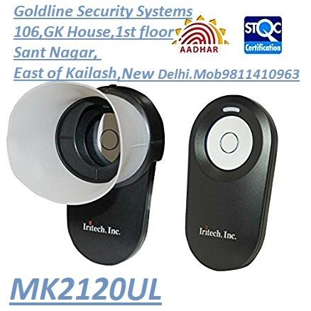 Iritech Inc. Iris Scanner MK2120U/MK2120UL Distributor  STQC Certified UIDAI compatible only one device MK2120UL and are the only one distributor for Iritech Inc. Iris Scanner MK2120U/MK2120UL in Delhi, Delhi NCR, Gurgaon.  I confirm with manufacturer, MK2120U device later compatible but not now... According to Govt. new guideline this device which have 5 cm distance from eye not authorised, which device having 15 cm distance from eye are allowed only. For more details please contact us on 9811410963