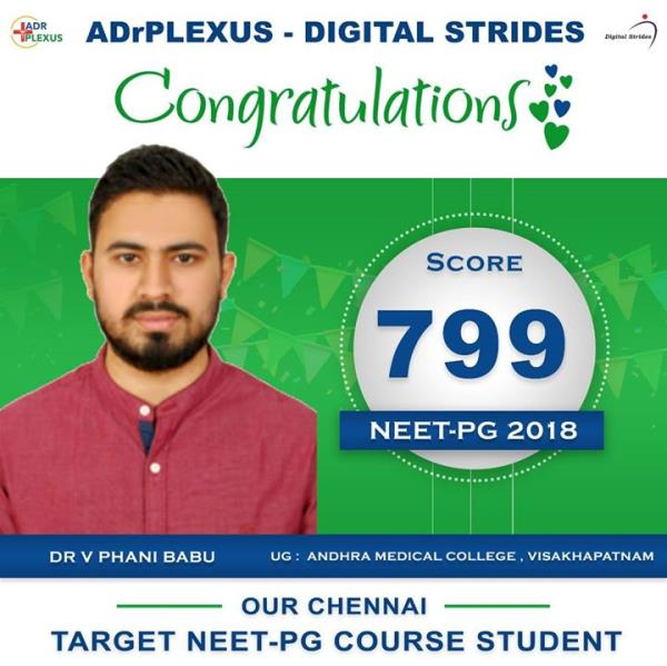 ADrPlexus Digital Strides Salutes Our Target NEET-PG 2017 Course Doctor Dr Phani Babu ( UG : Andhra Medical College )