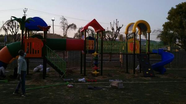 Our organization engaged in offering an extensive array of Children Play Ground Equipment, which are made by using very superior and premium grade raw material. We offer these Children Play Ground Equipment in various specifications and dimensions. These Children Play Ground Equipment are widely available in at industry leading prices.  CALL ORSEND INQUIRY www.astrokidzinc.com +91 9911076230