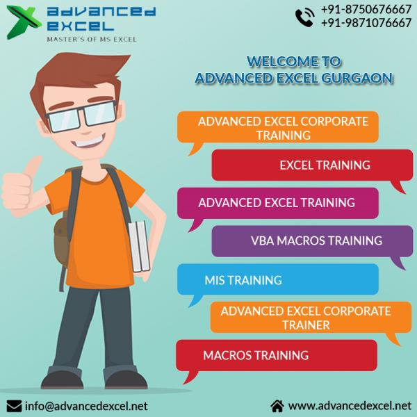 This is the high time if you are lacking in EXCEL. No time is late! Achieve the expert level in important concepts of Data Sorting, Advance Filter, Advance Pivot, Dashboard, Advance Conditional Formatting, Data Validation, Advance Functions, Advance Formulas. Overcome your fear of Excel and prepare yourself for the job industry in Data Management and Reporting domain.    For more inquiry visit at:-  Advanced Excel Institute - 177, Gopal Nagar, Near City Mark Hotel, Bus Stand, Gurgaon-122001  Contact now +91-8750676667  email: advancedexcel07@gmail.com  Visit website: www.advancedexcel.net