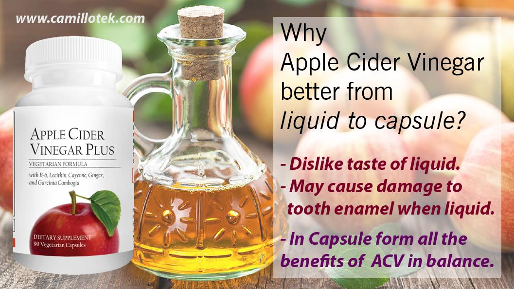 Why Apple Cider Vinegar is better from liquid to capsule? Some of the people dislike the taste of Apple cider vinegar in liquid form.  Apple cider vinegar may cause damage to your tooth enamel when using in liquid form .   Buy ACV online, naturalapple cider capsules, apple cider for all, apple cider weight loss, apple cider vinegar no side effects, apple cider stomach soother and apple cider boost immunity.  Apple Cider Vinegar capsules manufacturers, Apple Cider Vinegar capsules suppliers, Apple Cider Vinegar capsules exporters wholesalers, traders in Chennai, India.