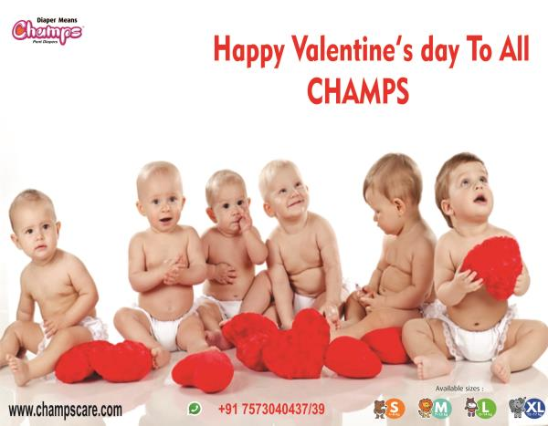 Wishing you a sweet Valentine's Day!From:CHAMPS FAMILY