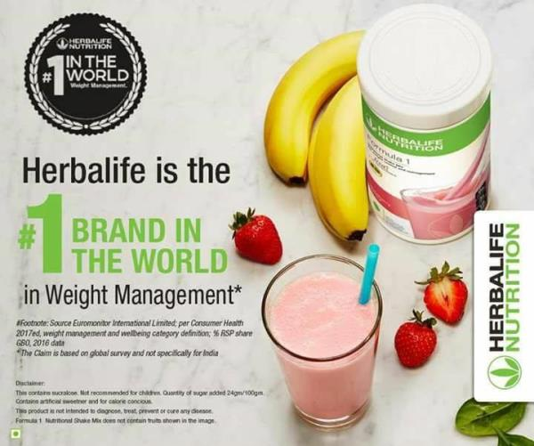 For more than 37 years, we have been bringing nutrition to every product user around the world. #Herbalife is the No.1 brand in the world in weight management*  Source: Euromonitor International limited, per consumer health 2017ed, weight management and wellbeing category definition; %RSP share GBO, 2016 data  No 1 Brand along with wellness Coach can help you to get back and then stay into best of your shape ever!!!!    Have you had your no1 Shake Today???