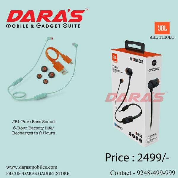 #JBL_Ear Phones Pure Bass Sound #6_Hours Battery Life from DARAS