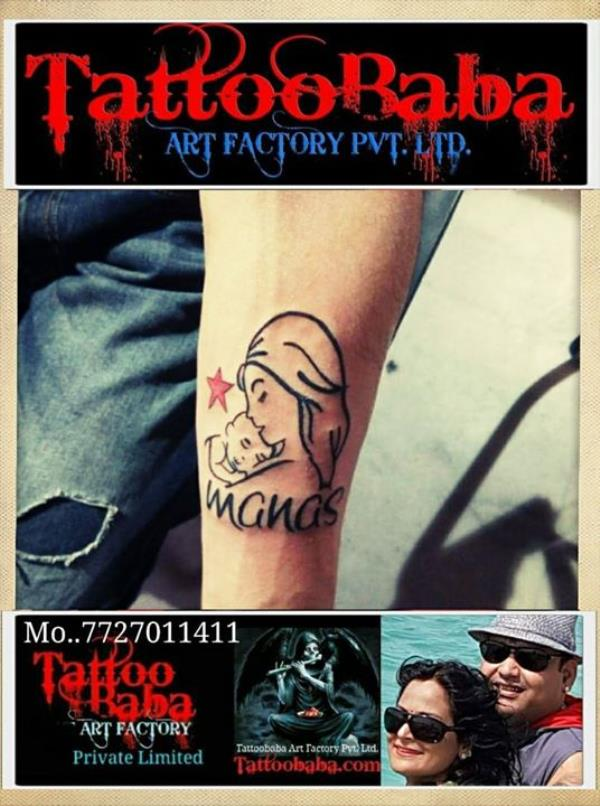 Recently done Maa Paa tattoos.. at Tattoobaba Call for ur tattoos.. 7727011411