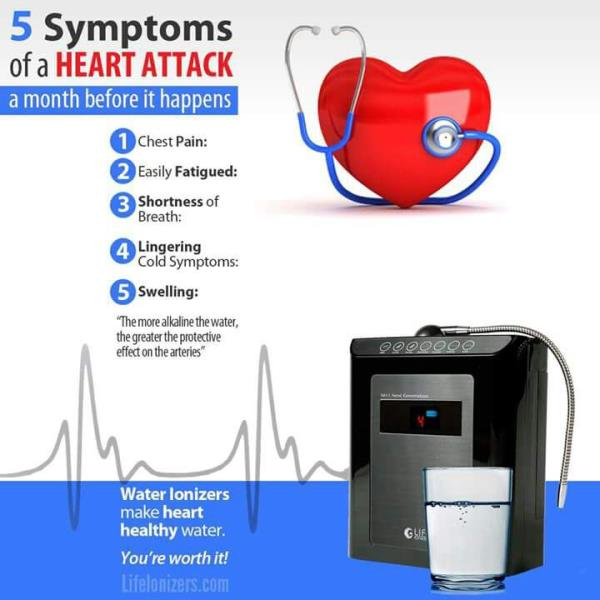 Hey  If you have Heart Problem than be sure about it  and take Alkaline Water to stop the Heart Attack  Safe Your Life   For more contact - 9779296200. or visit - alkalineionizers.in ; lifeionizersindia.com