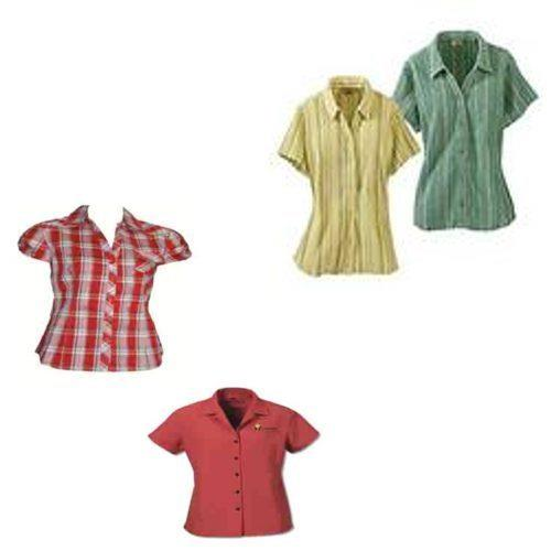 Ladies Shirt               We bring onward a huge assortment of ladies shirts/tops that are highly demanded by our clients all across the world. These shirts are made available by us in a variety of colors, patterns and styles that adhere to the different tastes and preferences of the customers. Our shirts are acknowledged in the market because of their comfortable fit and color fast attributes.
