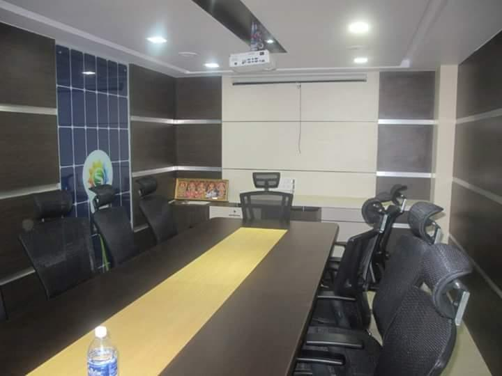 Office Interior Designer in Chennai We are creative office interior design specialists. We plan, design & furnish highly branded commercial interiors that define & support strong company culture.  Office Interior Design which has shown in the below image is our recent project done in Tambaram, Chennai.