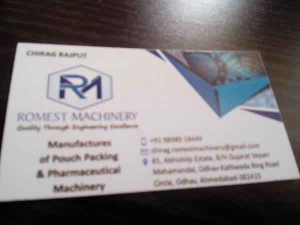 we are leading pouch packing manufacturing in Ahmedabad Gujarat and India.