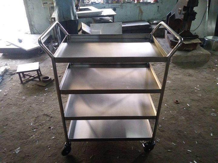 Stainless Steel Food Service Trolley For Hospitals, Hotels , College Canteens, Restaurants, Commercial Kitchen Equipment Manufacturer In Chennai For more info visit us at http://smartkitchenequipment.com/Stainless-Steel-Food-Service-Trolley-For-Hospitals-Hotels-College-Canteens-Restaurants-Commercial-Kitchen-Equipment-Manu/b109