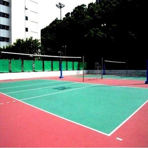 Volleyball Surface Construction   Sundek Sports Systems is Trader of  Volleyball Surface Construction in Mumbai.  Product Details: Also have expertise in Tennis Court Flooring, Basketball Flooring, Volley Ball Court Flooring, Squash Court Flooring, Gymnasium Flooring Available Flooring Services Installation Court Type Indoor, Outdoor Provide AMC Volleyball Surface Construction services offeredare handled by experienced professionals who hold expertise in offering complete flooring support for both indoor as well as outdoor playing areas. Our solutions assisting in achieving long lasting multi sport surface with superior bounce & ball response qualities. Further, the solutions can be delivered in both cement and asphalt surface choices with surfaces constructed providing for superior grip in all weather conditions. The enhanced quality construction standards also ensure no wear patches in heavy play areas. Features: Expertise in offering complete flooring support for both indoor as well as outdoor playing areas Our solutions assisting in achieving long lasting multi sport surface with superior bounce & ball response qualities Solutions can be delivered in both cement and asphalt surface choices Surfaces constructed provide for superior grip in all weather conditions Solutions can be offered in different color choices . Quality construction standards that ensure no wear patches in heavy play areas . Specifications - Volleyball Court Surfaces: Sundek Air-Cush Wooden Flooring Outdoor Synthetic Surface Indoor PVC Vinyl Flooring .