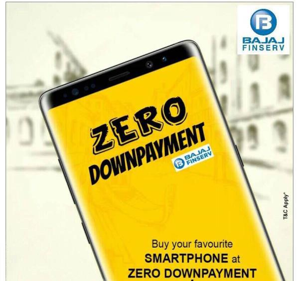 Mobile available on emi zero down payment