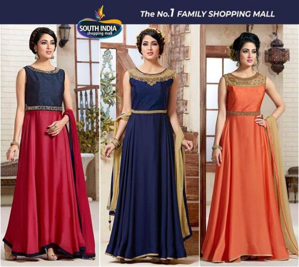 Floor length gowns for the party and festive season now available at #SouthIndiaShoppingMall.