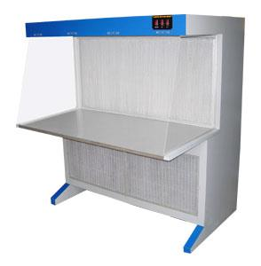 Laminar Air Flow Laminar Flow Cabinet from top to down stream through the inverted HEPA filter placed on the top of the work space, working table is made with satin finish stainless steel top. The inner cabinet is made with marine plywood and outer covering is made with C.R sheet duly powder coated, front door with transparent acrylic provided with counter weight attachment for sliding operation and keep the door at required level. Sides of the cabinet is paneled with poly carbonate transparent sheet. Fitted with all standard accessories such as U.V. germicidal light, fluorescent light, provided cock for as gas/air, pre filter & HEPA filter, inclined pressure manometer. Other details: Working area in cm Approx.external dimension L X W X H in cm in cm 60 x 60 x 60 70 x 76 x 19890 x 60 x 60 98 x 76 x 198120 x 60 x 60 128 x 76 x 198180 x 60 x 60 188 x 76 x 198