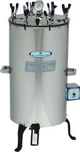Autoclave   We have marked a distinct and dynamic position in the market by offering a high quality assortment of Autoclaves. The offered autoclaves used in microbiology, medicine, podiatry, tattooing, body piercing, veterinary science. We deliver this autoclaves in well-defined time frame along with various specifications. Clients can avail these autoclaves from us at nominal prices.  Features:  Precisely engineered Sturdy construction Durable standard  Specifications:  Voltage: 220V AC