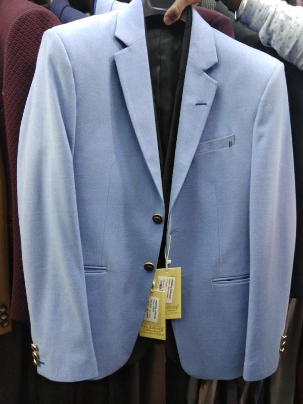 Men's blazer in Raymond's fabric in sky blue color