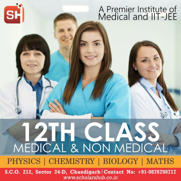 Scholars Hub is a premier coaching institute for class 11th & 12th medical, non-medical and IIT-JEE/NEET coaching. At Scholars Hub, we focus on building a strong foundation of knowledge and concepts in students for their success and provide an excellent platform for the preparation of competitive exams and board level education. The best academic support and personal care which we provide to the students helps them meet their career goals and objectives. best IIT-JEE/NEET Coaching Institute in Chandigarh.