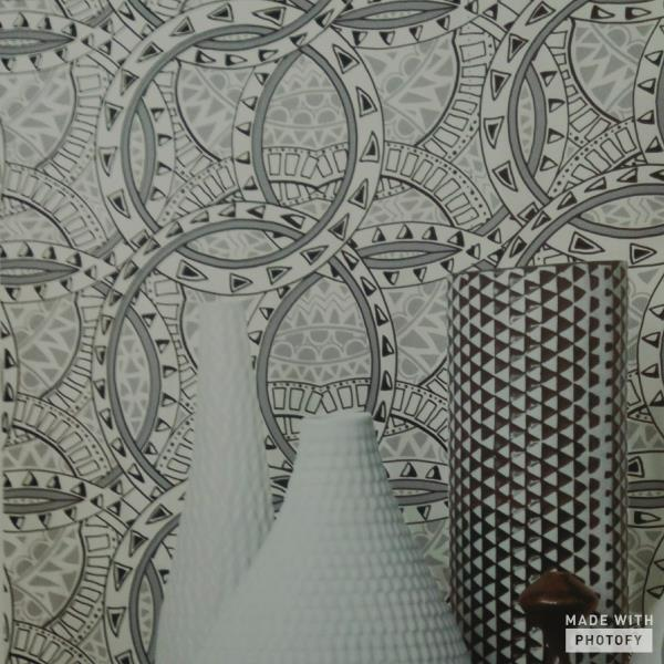 Imported Wallpaper Dealer in Srinagar  A beautiful 3D Black n White Mosaic Circular texture wallpaper. This wallpaper is universal i.e. suits every wall or occasion.  Available in Discount Offer - Contact Us