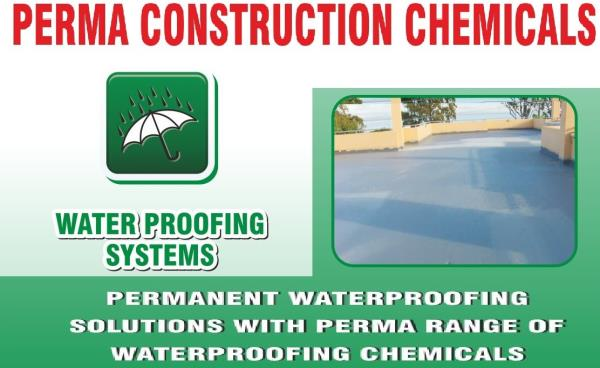 Waterproofing Chemical for Terrace , Waterproof Plaster , Waterproofing Chemical for Building , Waterproofing Chemical for Water Tan k , Waterproofing Chemical for Roof , Waterproofing Chemical for Wall Plaster , Internal Wall Waterproofing Chemical , External Wall Waterproofing Chemical , Waterproofing Chemical for Swimming Pool , SBR Latex For Waterproofing . We have lots of Waterproofing Products as per required for waterproofing solutions for various application in construction. We have waterproofing applicator in PAN India location and they solved your problem with PERMA products If you required Waterproofing Chemical Products of PERMA you may send us an inquiry through our website. All Products are available on our website www.permaindia.biz & www.permaindia.com