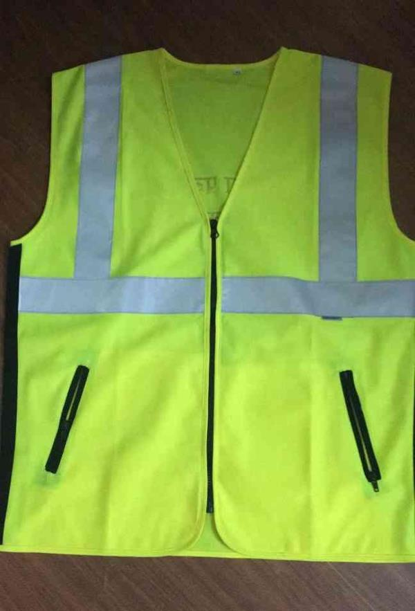 High-visibility(HV)clothing, a type ofpersonal protective equipment(PPE), is anyclothingworn that has highlyreflectiveproperties or a colour that is easily discernible from any background. Yellow waistcoats worn byemergency services - by Safety Bazar, New Delhi