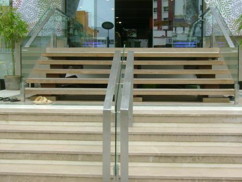 Outdoor Stainless Steel Glass Railing  After being spotted as a leading manufacturer and supplier of Outdoor Stainless Steel Glass Railing, we are working keen to build our quality and trust among our clients. Due to its optimum strength and flawless finish it is in high demand.As per requirement of our client's it is available in wide range and specifications. We ensure fastest installation to avoid any inconvenience to our clients.  we are leading manufacrurer Outdoor Stainless Steel Glass Railing in Surat, Gujarat, India.  Outdoor Stainless Steel Glass Railing in Vadodadara, Gujarat, India.