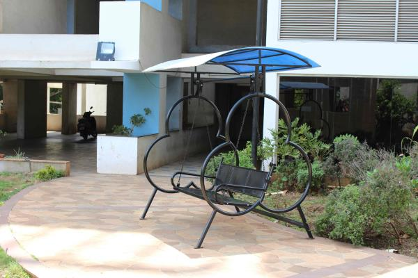 Out door Swings : We at Haitu Engineers have been into manufacturing of standardized and customized furniture for domestic , Institutional as well as Industrial use . Displayed here in the photograph is an outdoor swing . We make complete range of swings , one seat two seat and three seat with and without canopies . The structures are made in mild steel with powder coating or in Stainless Steel . The cost of the swing shown in the photograph is Rs 17500=00
