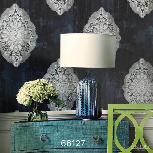 Wallpaper Dealer in India.   A Superb Wallpaper supplier in Delhi:   White damask for your Living Room area. Change interiors with this superb Wallpaper.   A bhagwan dass wallpaper collection.  To buy call us   Wallparadise- Imported Wallpaper Supplier or Dealer.