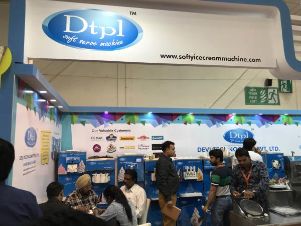 Dtpl leading manufacturer of ice cream machine , frozen yogurt machine, thick shake machine at Aahar New Delhi