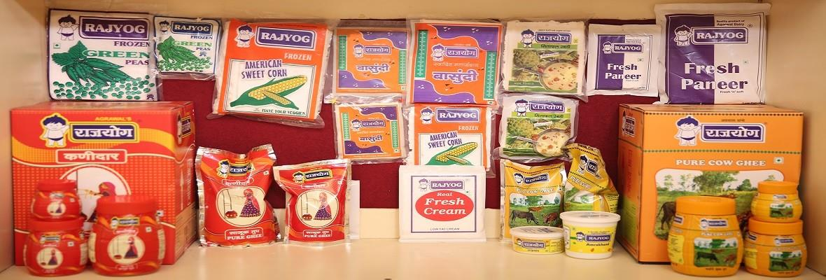 Agrawal Dairy  offers wide range of Milk Products Comprising of Fresh Milk, Butter, Ghee, Paneer, Curd, Flavoured Milk, Doodh Peda, Ice Cream and Skimmed Milk Powder. These products are conveniently packed to suit various needs of consumers. The company grew rapidly during the past one and half decades. Today it is one of the popular dairy companies in India. The consistent growth of the organization reflects the customer confidence on the products and services offered.