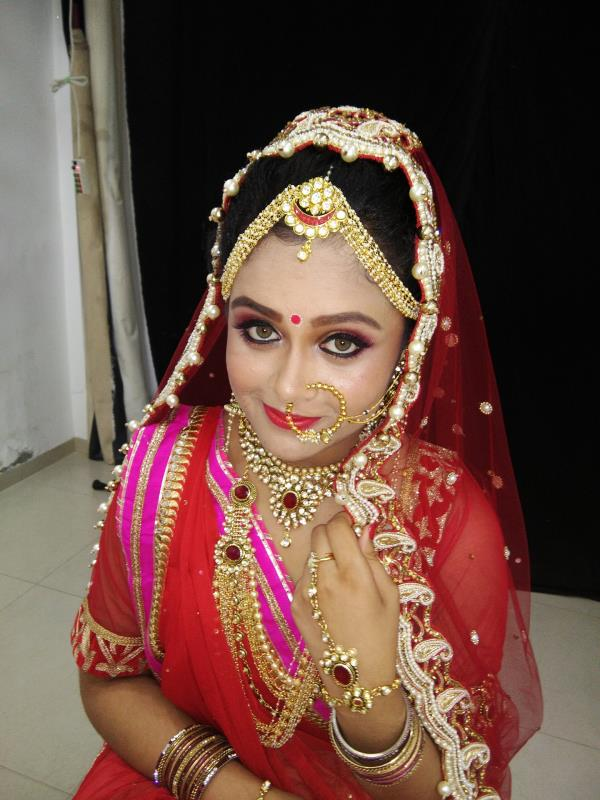 #Bridal Makeup  Every Bride Dreams of Her Wedding Day and wants to be at her best appearance that day. Bridal make up is an important part of bridal dressing. Along with the shinning jewellery and a gorgeous wedding dress if the make up and the hair do is inappropriate then their beauty are also marred. So it's very important to know about the right kind of bridal make up that would suit the brides taste and skin tone. Though Indian bridal make up is a bit gorgeous with red and gold hues predominating but the make up shouldn't be over the top and should naturally enhance the dewy radiance of the bride. Bridal make up can effective correct any imperfection or marks that the bride may have in her face. So over all bridal make up form and integral part of a brides repertoire.  Every bridal makeover will be conducted at your home, or wherever you will be getting ready the day of your wedding. We will ensure that you will look your most outstanding in any type of lighting, from indoors to outdoors. Each makeover includes cleansing, moisturizing, foundation to powder; blush, eyes, and lips. We use every up-to-the-minute, state-of-the-art technique available in the industry. From beginning to end, your makeover will achieve the perfection that any movie star would be proud to wear. Your beautiful makeup will last from your first photo, 'till your last dance. Reserve your date now for the look you've always dreamed of: Classic, Romantic, Dramatic, Natural, Elegan @ Herb Beauty Parlor & Day Spa in Karelibaug, Waghodia Road, Alkapuri, Vadodara, Gujarat.  For More Details Visit us on: www.herbbeauty.in OR  mail us @ herbtrading2000@yahoo.com  Karelibaug 7/A, Wagheshwari Society, Near SBI Bank,  VIP Road, Karelibaug, Vadodara. +91 - 265 - 248 6615, 249 0928, 659 9566, 982 514 3696  Waghodia Road Devpushp Complex , RadhaKrishna Society, Uma Char Rasta ,  Waghodia Road, Vadodara. +91 - 0265 - 654 4928, 251 4539  Alkapuri B-2, Sundeep Apartment, Above Alka Restaurant,  R.C.Dutt Ro