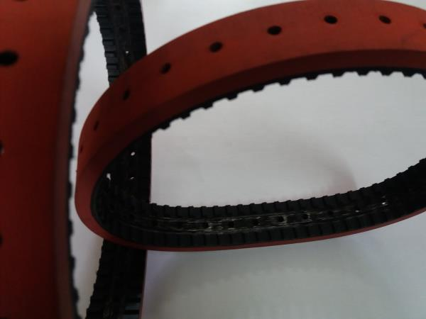 we will supply feeder belts - base flat / timing belt / poly v belts with top red coating smooth type or with perforation as per customer requirements