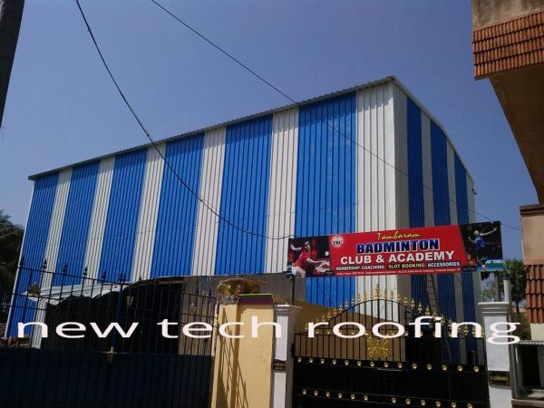 Badminton Shed Roofing Chennai we are providing good solution for badminton shed with metal roofing sheets.