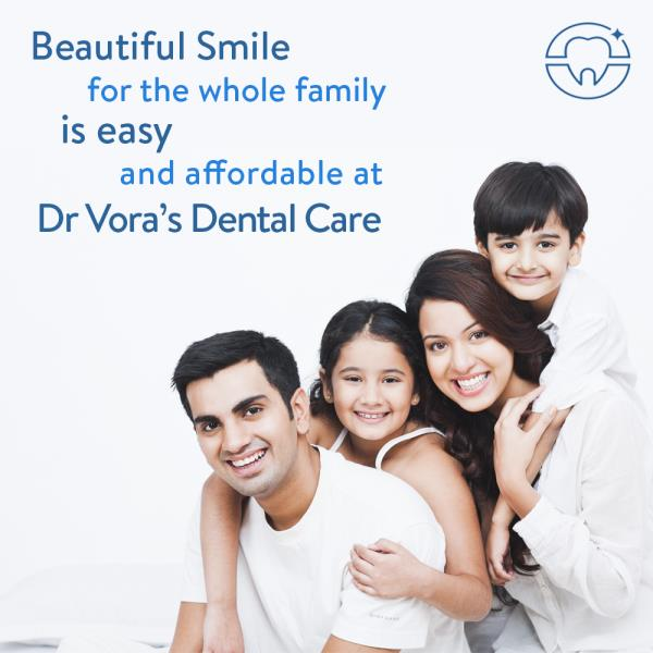 We offer all kind of dental treatments under one roof at Dr. Vora's Dental Care. Visit us at www.drvorasdental.com for more information