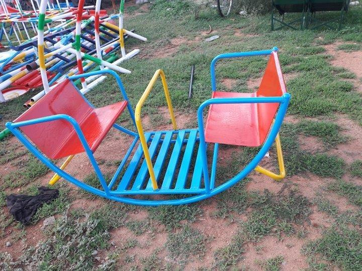 Out door play ground Equipment's manufacturers,  We are in manufacturing of out door play ground items and multiplay systems and basket ball poles and finer dust bins all fabrication ECT  for furthur details please logon to www.ssvplaysystems.com