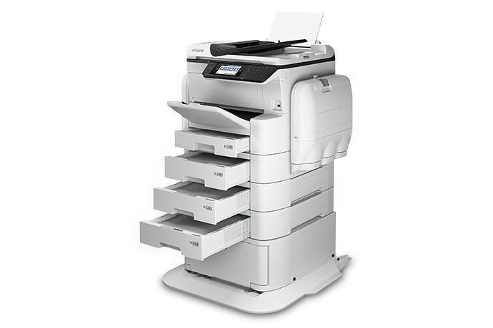 THE NEW A3+ Size (12 X 18 inch Print) A3 MFP Printer/ Copier/ Duplex Scanner & Fax.  1) Ink Yield of 84, 000 pages Colour and 86, 000 pages black *   2) High resolution printing and copying and longevity of prints that can last up   to 100 years.  3) Only 40 watt power consumption.  4) Network connectivity, Wi-Fi connectivity, Wi-Fi direct, access through   mobile/laptop/server/cloud/fax/flash drive direct.  5) Input page capacity of 831 pages which can be extended up to 1831 pages ( by   adding extra paper cassettes').  6) 24 iPM print out in A4- standard mode.  7) Auto duplex print, scan and copy- with various additional options.  8) Zero down time, ink can be replaced within 1 minute.  9) Very less moving parts involved, unlike laser printers.  10) Standard warranty is 6, 00, 000 or 1 year. (Optional 3 Yr. Warranty)  Visit us for a Live Demo. (Call on 9711618195 to fix an appointment) For more info visit us at http://yantras.co.in/MOVE-OVER-TRADITIONAL-PHOTOCOPIER-S-A3-MULTI-FUNCTION-PRINTERS-WELCOME-THE-NEW-EPSON-WORKFORCE-C869R-RIPS-A3-Size-12-X-1/b45